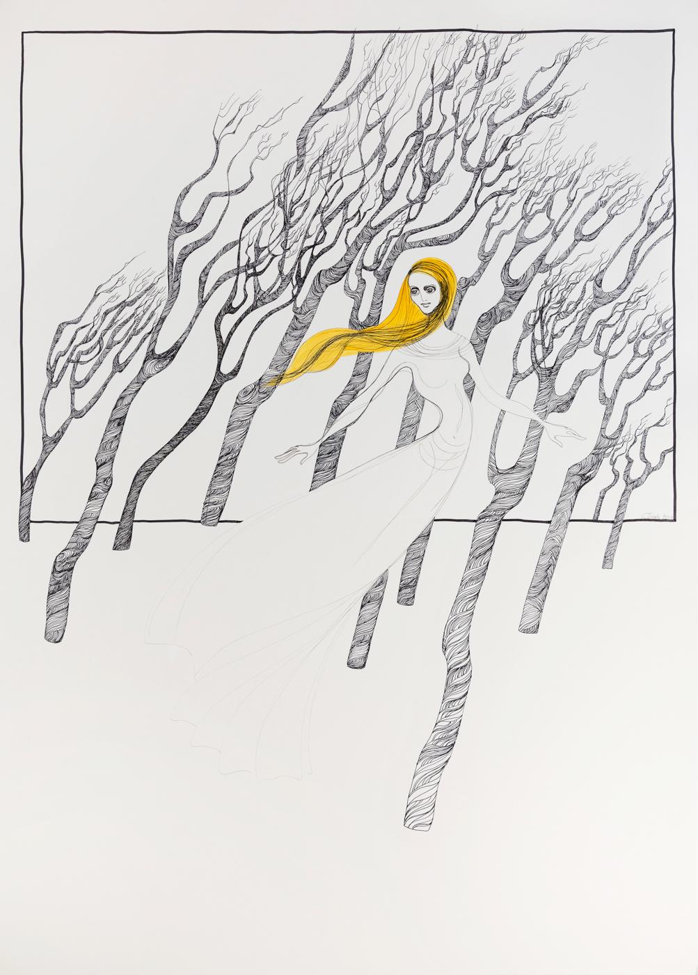 Kalypsos Dienerin - Nymphe im Wald