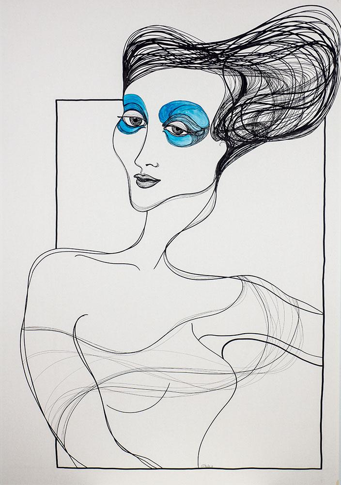 Kalypsos Dienerin - Nymphe mit blauen Augen