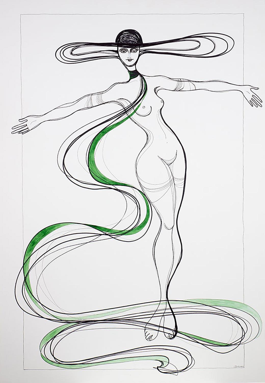 Kalypsos Dienerin - Nymphe mit grünem Schal