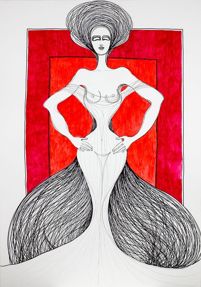 Kalypsos Dienerin - Nymphe mit langen Haaren
