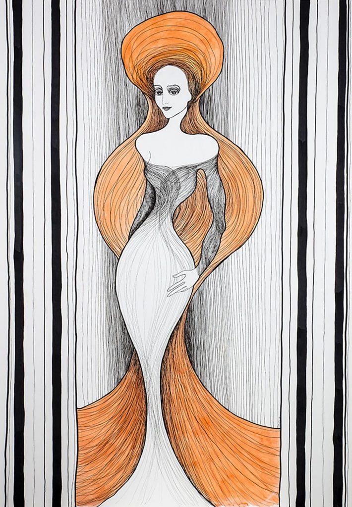 Kalypsos Dienerin - Nymphe mit orangenen Haaren