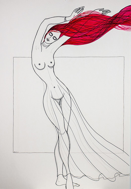 Kalypsos Dienerin - Nymphe mit roten Haaren