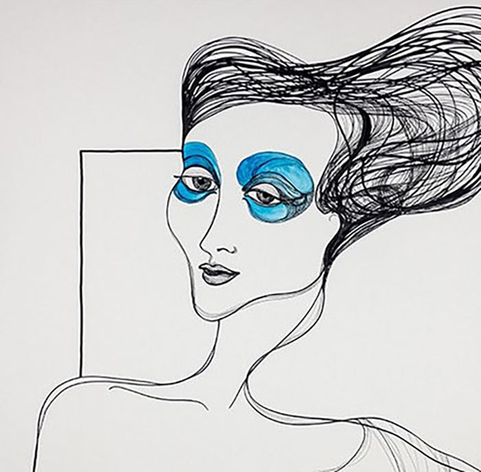 Nymphe mit blauen Augen, 2005